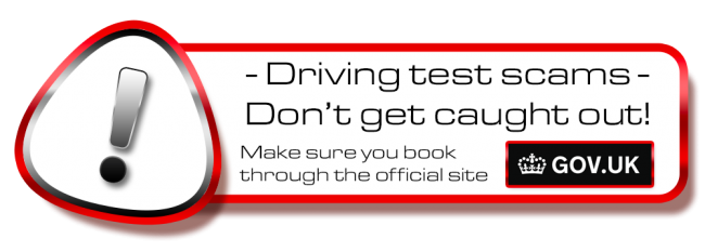 Don´t get scammed! book your theory or driving test in Tameside, Denton, Hy on the .gov site